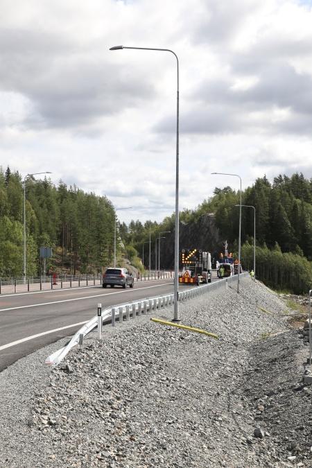 13 augusti 2019 - Ny vägbelysning längs med E18.