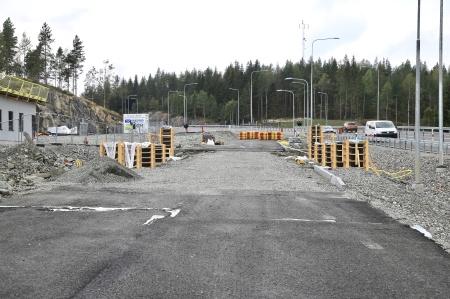 29 augusti 2019 - Här byggs nya kontrollstationen.