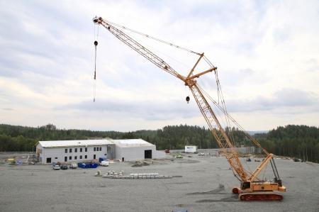 29 augusti 2019 - Byggkranen har gjort sitt jobb och väntar på nedmontering.