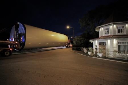 Många transporter kördes under natten.
