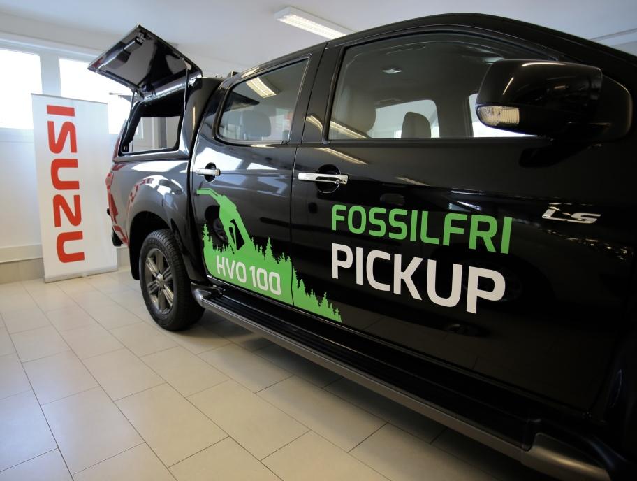 Fossilfri Pickup hos Nordmarkens Motor i Årjäng.