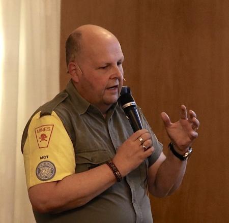 Sören Rundin berättade om sin FN-tjänstgöring.