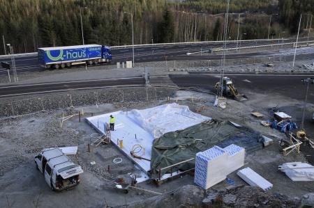 7 november 2019 - Här byggs ny speditionsbyggnad för KGH.