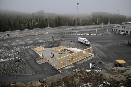 27 november 2019 - Här byggs KGH:s nya speditionsbyggnad vid nya Tullstationen.