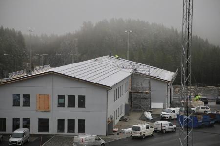 27 november 2019 - Tullstationen förses med solpaneler på taket.