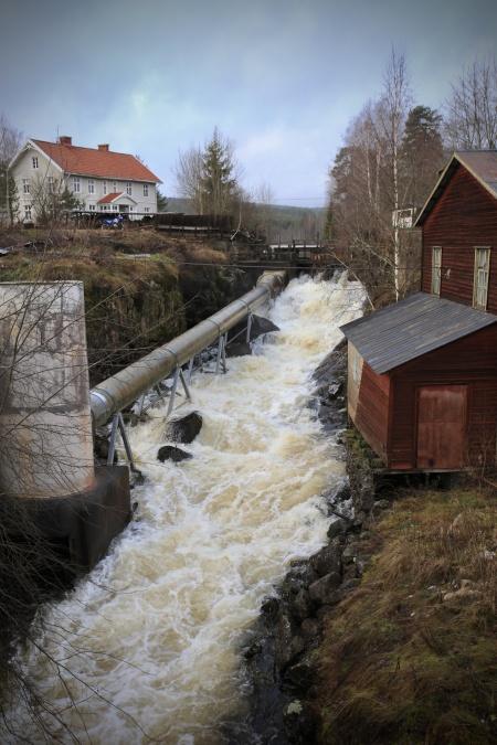 Forsen i Östervallskog.