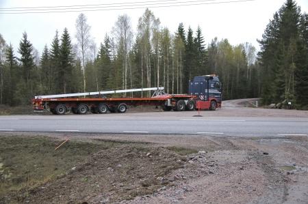 Så här ser transportfordonet ut, hoptryckt till normal längd.