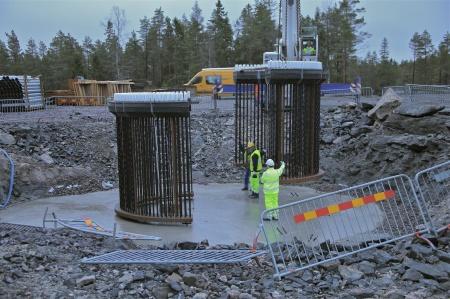 25. Fundamentets stålkonstruktion.