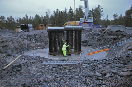 26. Fundamentets stålkonstruktion.
