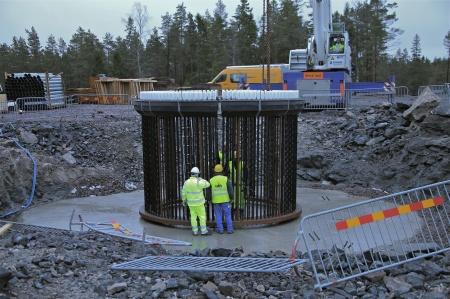 27. Fundamentets stålkonstruktion.