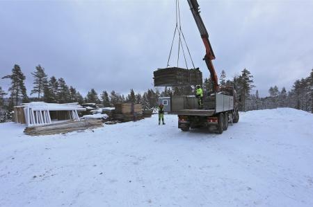 39. Fler gjutformar anlände från Tanum i Bohuslän, där det också byggs en vindkraftspark.