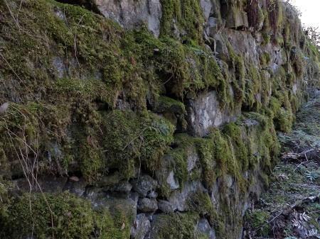 """""""Lekshalla"""" är byggd med en stenlagd mur som stöd."""