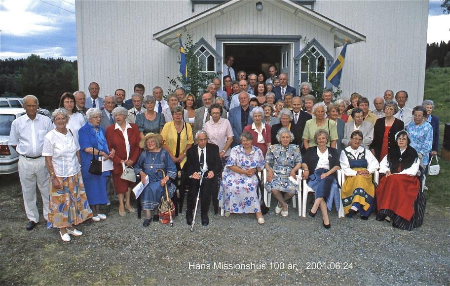 Håns Missionshus 100 år 24 juni 2001 / foto : Bengt Erlandsson