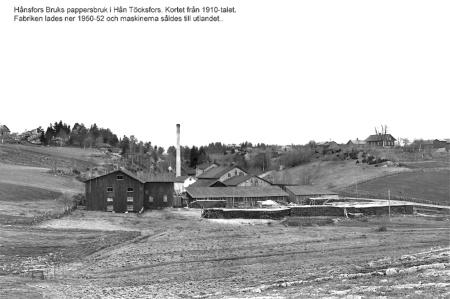 Pappersfabriken i Hån. Foto: Brynolf Söderblom / kopia Bengt Erlandsson.