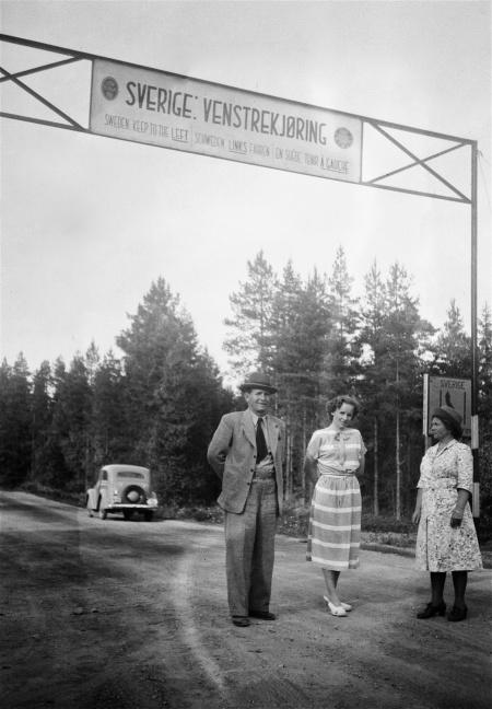 Gränspassagen mellan Norge och Sverige på 1940-talet. Foto: Uno Brander.