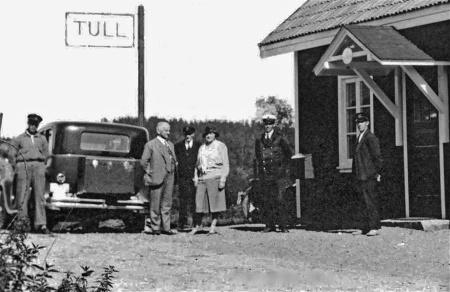 Håns tullstation på 1930-talet. Foto: okänd / kopia Bengt Erlandsson.