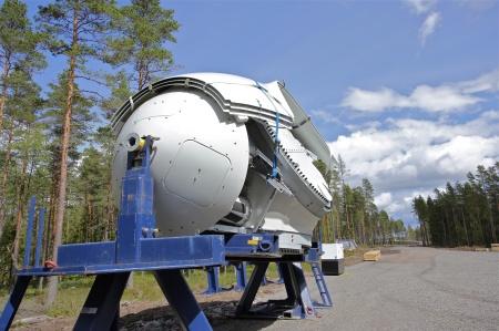 30 juni 2014 - nav (noskon / hub) med fästen för rotorblad.