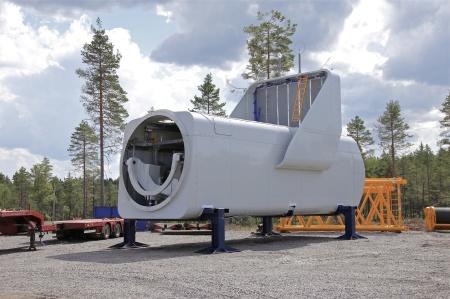 25 juli 2014 - dags att lyfta ytterligare ett maskinhus.