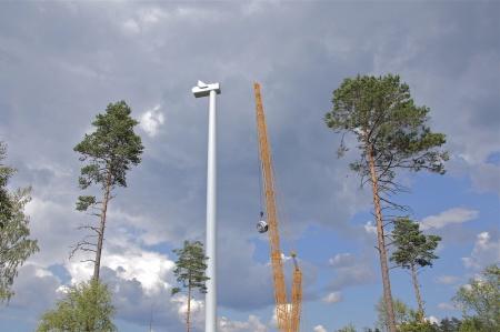 25 juli 2014 - dags att lyfta rotornavet.