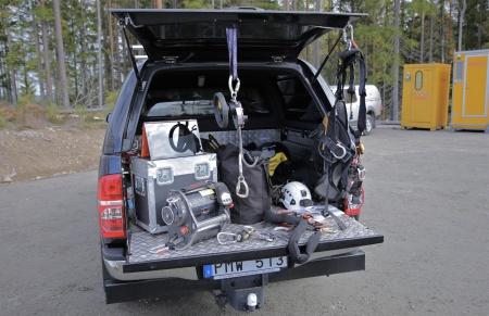 Utrustning för Höghöjdsarbete.