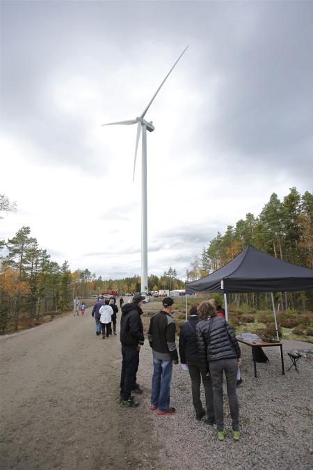 Vindkraftverk nr 3, där invigningen skall ske.