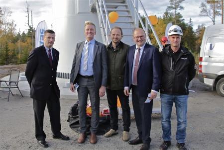 Per Selldén, Daniel Schützer, Thomas Linnard, Kenneth Johansson och Björn Johansson.