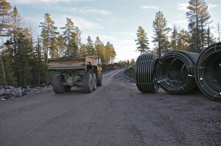 19 november 2013 - snart börjar läggningen av kabelrör.