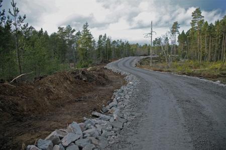 3 december 2013 - dike för läggning av kabelrör till vinkraftverken 2 och 3.