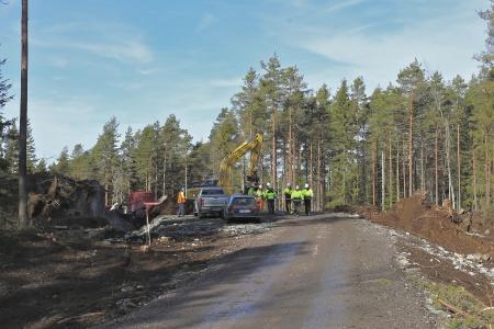 12 mars 2014 - Rabbalshede Kraft och Vestas inspekterade vägarna för att bedöma om framkomligheten är tillräcklig.