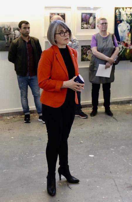 Elisabeth Kihlström Region Värmland talade och förklarade konstrundan 2019 invigd.