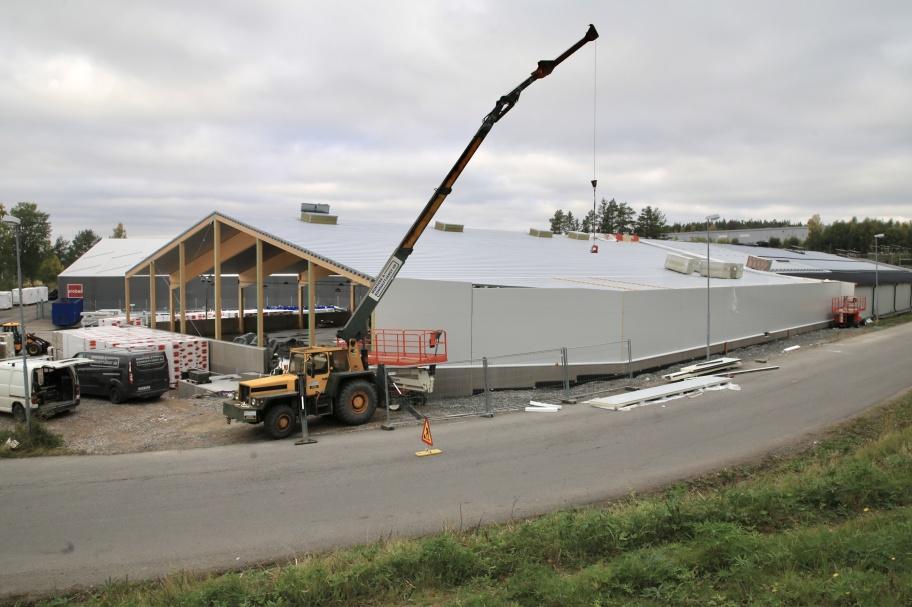 28 september 2020 - Arbetet med utbyggnaden av norbag fortskrider.