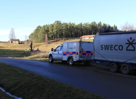 3 november 2020 - SWECO  undersökte marken vid Kallnäset, där nya förskolan skall byggas.