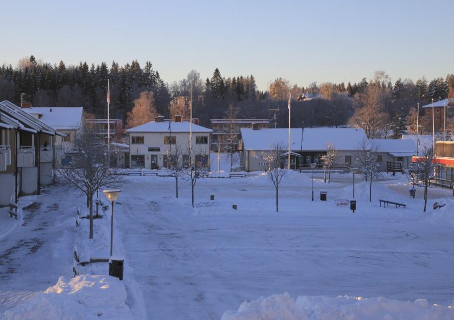 16 januari 2021 - Julen är över och julgranen på torget finns inte längre, en krispig -17 graders morgon.