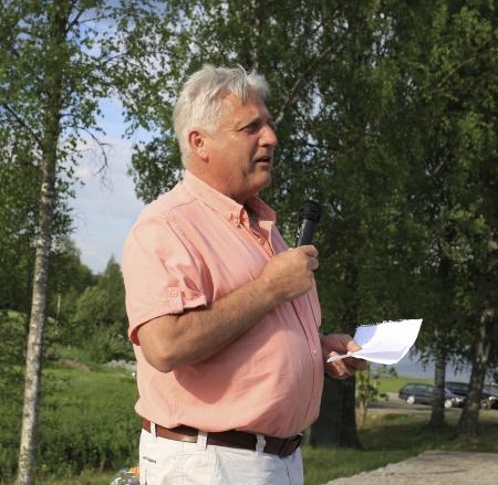 Hans Thorängen, avgående ordförande i båtklubben. Projektledare för byggandet av Gästhamnen.