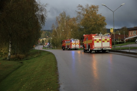 4 oktober 2021 - Även Årjängsstyrkan larmades till Töcksfors, men dom kunde återvända till Årjäng.