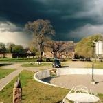 Dramatisk himmel över Magasinet