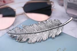 Fjädersmycke Silver