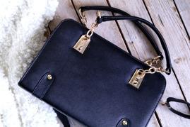 Väska - Gold chain - Svart