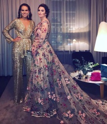 Elle-Galan 2018 - Carolina Gynning and Frida Jonsvens -Photo : www.gynning.net - Dress and golden suit - Frida Jonsvens