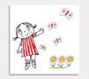 Lilla Anna blommor & 4 fjärillar