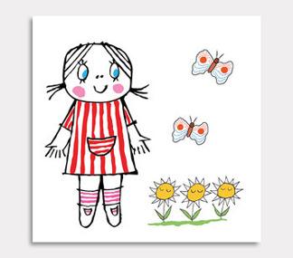Lilla Anna blommor & 2 fjärillar