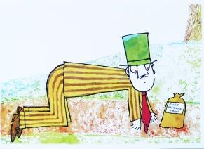 Långa Farbrorn, önskefröna vykort