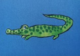 Krokodil vykort