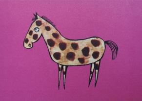 Häst vykort