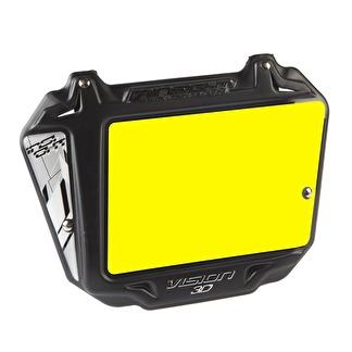 Nummerskylt INSIGHT 3D VISION Gul Bakgrund - Svart_gul bakgrund / PRO