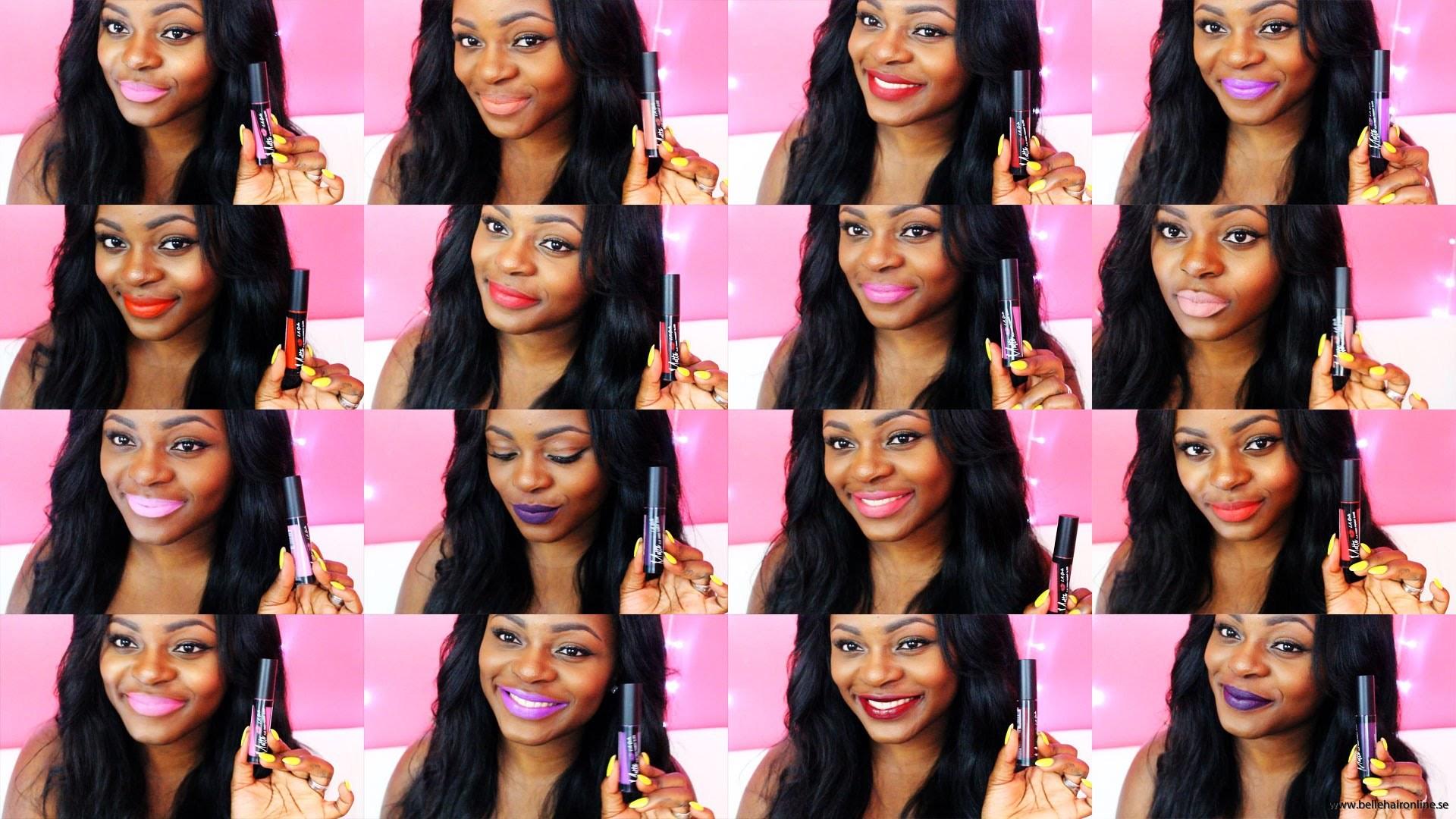La Girl on dark skin