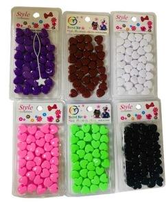 Pearls Colourful hearts Black/ svart - Hair Pearls hearts svart