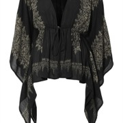 BRENLY KAFTAN BLACK/ ANTIQUE GOLD
