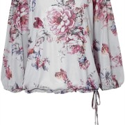 FLORENCE BLOUSE SKY BLUE/ROSE