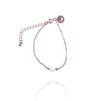 Armband med rosa sten -